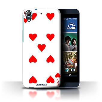 STUFF4 Case/Cover for HTC Desire 626/9 of Hearts/Playing Cards
