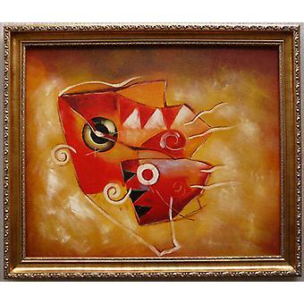 Abstrakt, 50x60 handmålad oljemålning