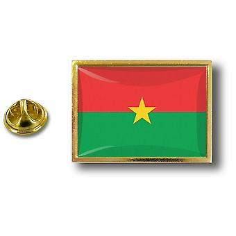 Pins Pin Badge Pin's Metal  Avec Pince Papillon Drapeau Burkina Faso