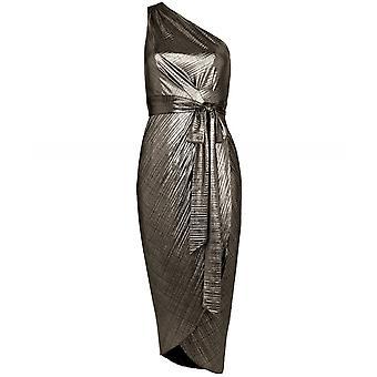 Ted Baker Gabria One Shoulder Draped Midi Dress