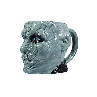 Game of Thrones cup 3D Night King White Walker grijs, 100% keramiek, socket÷gene ca. 600 ml, in geschenkdoos.