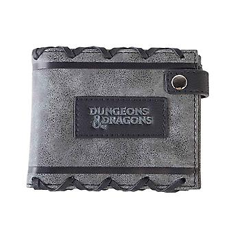 Dungeons And Dragons Wallet Faux leather Lace Logo new Official Black Bifold