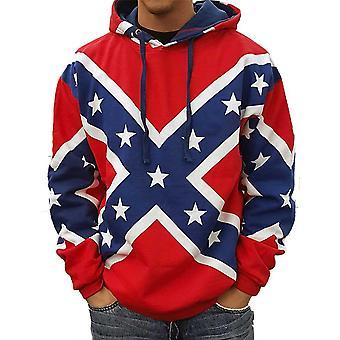 Confederate Rebel Flag Hoodie Southern Dixie Redneck Pride
