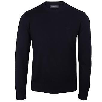 Emporio armani men's blue pullover