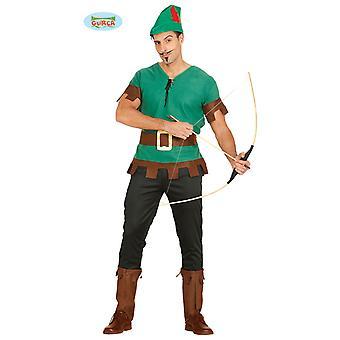 Arqueiro do traje para homens Robin hood arqueiro verde de herói Hunter Mr traje