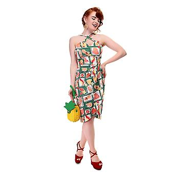 Collectif Vintage Women's Mahina Tropical Bamboo Sarong Dress