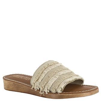 Bella Vita Womens Abi-Italy Fabric Open Toe Casual Slide Sandals