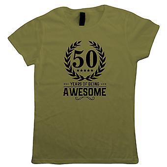 50 ans d'être génial, T-shirt pour femmes - Cadeau d'anniversaire sa mère