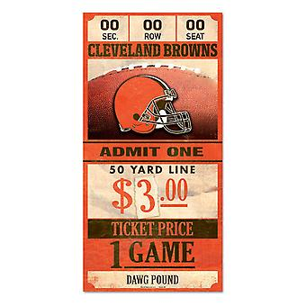Wincraft NFL Signe en bois TICKET Cleveland Browns 30x15cm