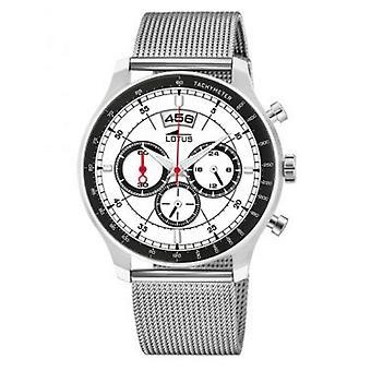 Lotus 10138-1 CHRONO watch - klocka Chrono stål vit man