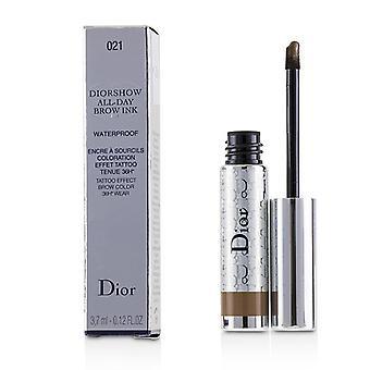 Christian Dior Diorshow todo día impermeable frente tinta - medio # 021 - 3.7ml/0.12oz
