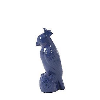 Licht & Leben Ornament 12x11x28.5cm Vogel glänzend blau