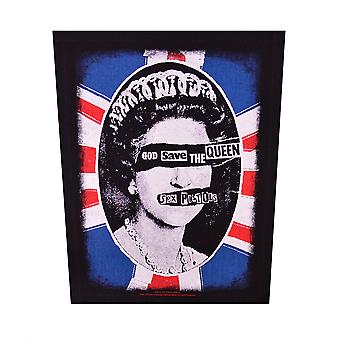 Sex Pistols God Save The Queen Back Patch