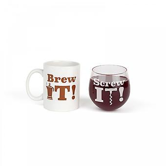 BigMouth Inc. The Brew It, Screw It Drinking Gift Set