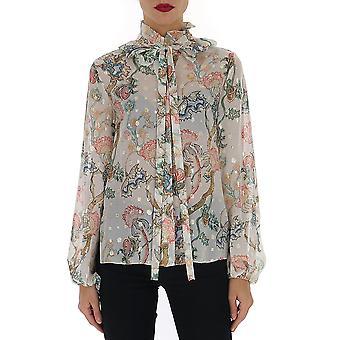 Chloé Chc20sht173251za Women's Multicolor Silk Blouse
