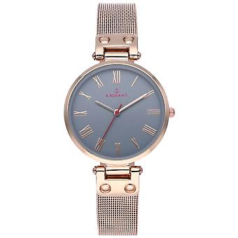 Radiant Julian Quartz Analog Woman Watch with RA495602 Gold Plated Stainless Steel Bracelet