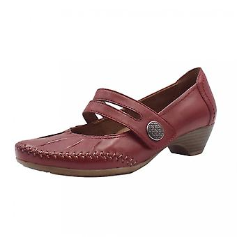 JAN 24311 Diane Wide Fit Smart-casual Mary-jane Mid Heel Shoes In Chili