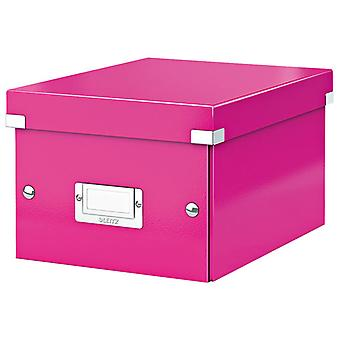 Leitz Pink Click & Store Storage Box WOW A5 Small