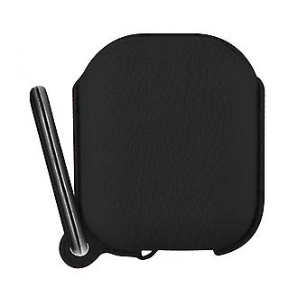 Airpods 1 and 2 Silicone Protective Case with Integrated Carabiner- Black