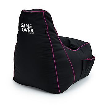 Game Over 8-Bit Kinderen Kinderen Mini Video Gaming Bean Bag Stoel | Indoor Living Play Room | Zijzakken voor controllers | Headsethouder | Ergonomisch ontwerp voor de dedicated gamer (Twilight Princess)
