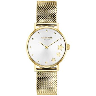 Coach   Women's Perry   Gold-Tone Steel Mesh   Silver Dial   14503521 Watch