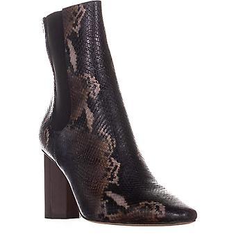 Donald J Pliner Womens Laila Leather Square Toe Ankle Fashion Boots