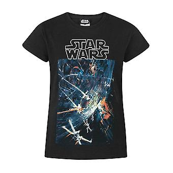 Star Wars Death Star Svart kortärmad flicka' s T-shirt