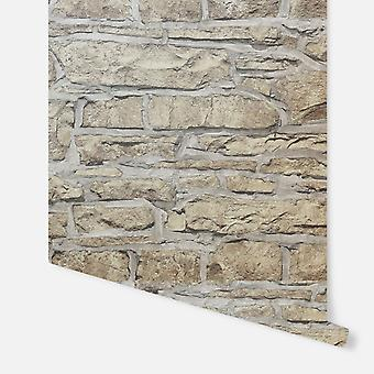 697100 - Church Stone Natural - Arthouse Wallpaper