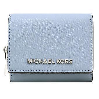 Michael kors jet sett reise liten multifunksjonell zip case lommebok pulver blå