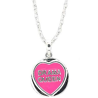 Genuine Licensed Love Hearts 'Drama Queen' Pink Sweet Pendant On 18 Inch Chain