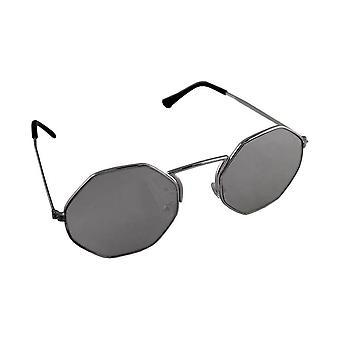 Sunglasses Ladies Hexagon - Silver Reflecterend1892_8