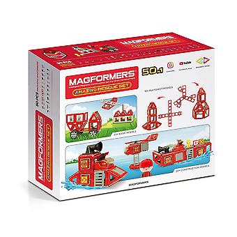Magformers Amazing Rescue Firefighter Set 50PCs STEM Educational Toy