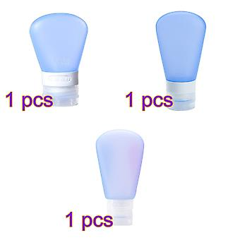 3 PCS fan-shaped silicone bottle Cosmetic dispenser