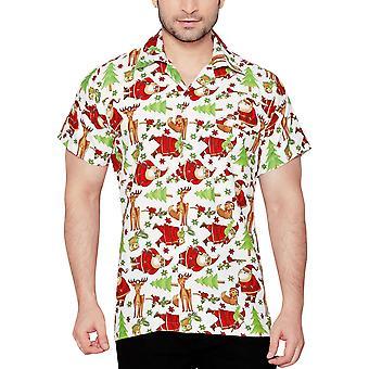 Club cubana men's regular fit classic short sleeve casual shirt ccx16