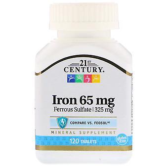21st century iron, 65 mg, tablets, 120 ea