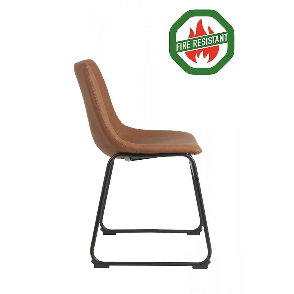 Chaise à manger light & living 55x45x79cm Jeddo Fr Braun