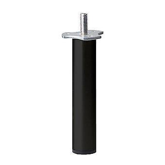 Schwarzes rundmöbelbein 17 cm (M8)