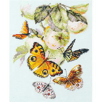 Magic Needle Cross Stitch Kit - Butterflies and Apples
