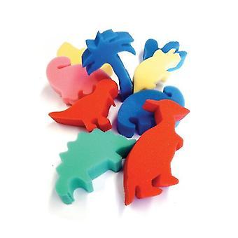 Major Brushes Foam Dinosaur Shapes Pack of 9