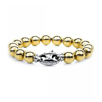 Diamond bracelet bracelet - 18K 750 yellow gold - white gold - 0.17 ct.