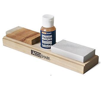 AccuSharp Arkansas Whetstone Combo Knife Sharpening Kit, w/ Honing Oil #023C