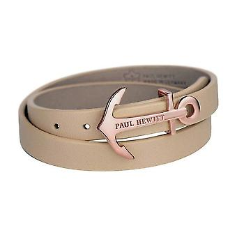 Paul Hewitt Wrap Bracelet North Bound IP rosegold/ Hazelnut 37.5 PH-WB-R-22S