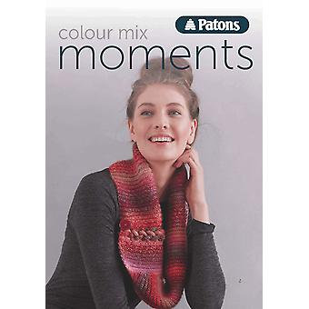 Patons Colour Mix Moments Ladies Double Knitting Pattern Book
