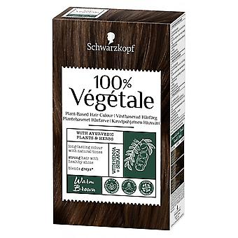 Schwarzkopf 3 X Schwarzkopf 100% Vegetale Hair Color - Warm Brown