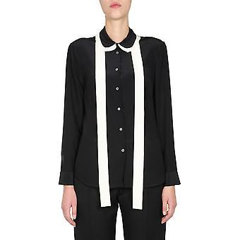 Red Valentino Ur3aba8048p0na Women's Black Silk Shirt