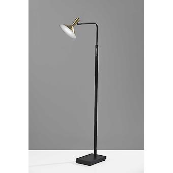 "7"" X 18.5"" X 54"" Black Metal LED Floor Lamp"