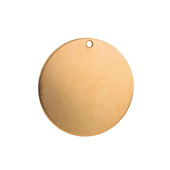 Copper Blanks Round Pack of 10 29mm X 1mm