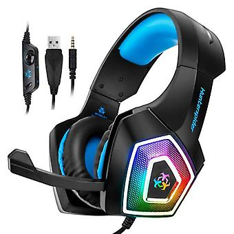 Hunterspider V1 Gaming Headset Stereo Earphone Headphones with Microphone for PlayStation 4 / PC / Xbox Blue