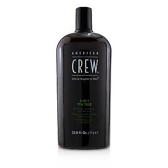 Men 3 in 1 tea tree shampoo, conditioner and body wash 227384 1000ml/33.8oz