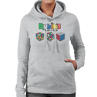 Rubiks ta det lugnt kvinnors Huvtröja